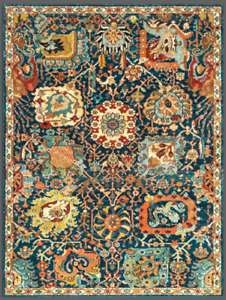 Luxurious Turkish Geometric Kazan Vintage Area Rug Made of Recycle Fibers