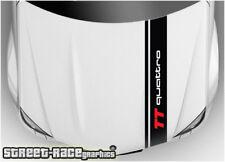 BS1914 Audi Bonnet Racing Stripes Graphique Autocollants TT Quattro Motorsport
