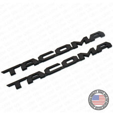 2pcs 15-19 Black Tacoma Letter Side Fender Nameplate Emblem Badge Logo Tailgate