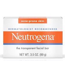 New Neutrogena Acne-prone Skin Transparent Facial Soap 3.5 Oz