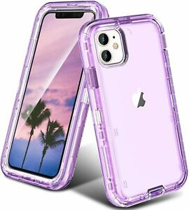 For iPhone 12 Pro Max 11 678 X XS XR Clear Defender Case Heavy Duty Hybrid Cover