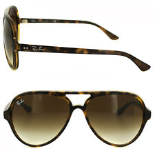 New RAY-BAN Cats 5000 RB 4125 710/51 Light Havana w/Brown Gradient 59 mm