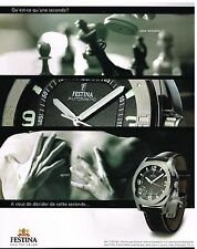 Publicité Advertising 2003 La Montre Festina Automatic