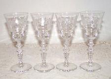 Vintage Cocktail Cordial Glasses Etched Floral Leaf Design Set of 4 Elegant