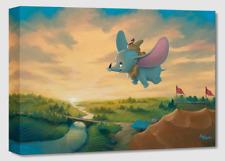 Disney Fine Art Treasures On Canvas Collection Flight Over the Big Top-Dumbo-Kaz