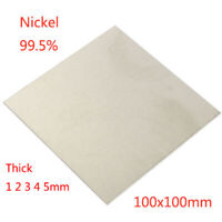 "1-5mm 99.5% Nickel Ni Sheet Plate For Electroplating Anode 4""x4"" Element"