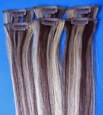 """REMY 20""""L  6PCS #02/613 REAL HUMAN HAIR CLIP IN EXTENSIONS 30g highlight long"""