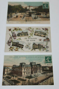 Postkarten Antik Lyon Präfektur Cours Midi Platz Carnot Anfang 20. Jahrhundert