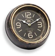 Horloge murale shabby - Métal - déco NOSTALGIE modèle noir brun rouille