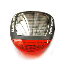 Solar Power LED Bicycle Bike Rear Tail Lamp Light Red
