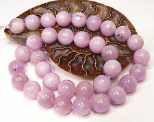 """RARE ROUND NATURAL PINK AFGHAN KUNZITE CATS EYE BEADS 16"""" STRAND 495ctw 12mm"""