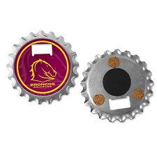 NRL Brisbane Broncos Fridge Magnet Bottle Opener Coaster 3 in 1 Gadget Gift