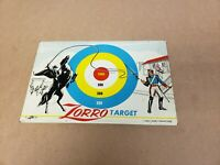 Rare Vintage Lido Toy Kids  Zorro Metal Target Walt Disney Productions