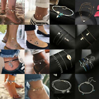 2019 Trendy Ankle Bracelet Women Gold Silver Anklet Foot Jewelry Chain Beach NEW