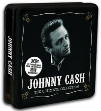 JOHNNY CASH ULTIMATE SUN RECORDING MUSIC COLLECTION NEW 45 SONGS 3 CD STEEL CASE