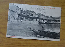 CARTOLINA UN SALUTO DA LECCO VIAGGIATA 1909 SUBALPINA HH