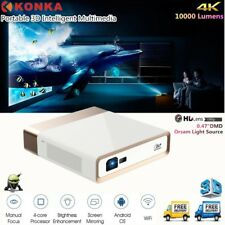 Konka 4K Ultra HD DLP Laser Projector 3D WIFI Short Throw Home Theater Cinema UK