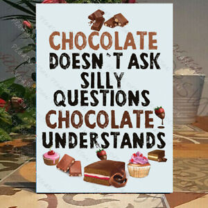 Funny Coffee Plaque, chocolate lover sign, coffee solves everything plaque