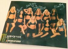 NASCAR Monster Energy Girls 8x10 autographed copy photo