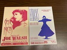 Lot Of 2 Stevie Nicks Cardstock Concert Posters 11X17 Joe Walsh Rock A Little