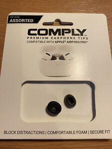 Comply Premium Earphone Tips For Apple Airpods Pro Memory Foam Small