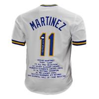 Edgar Martinez Signed HOF '19 Stat Seattle White Baseball Jersey (JSA)