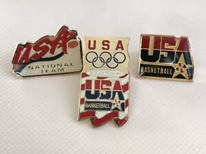 LOT 3 1996 Dream Team Atlanta Olympic Pins Basketball USA Barkley O'Neal Pippen