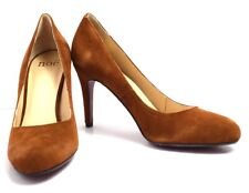 Noe Womens High Heel Pumps Court Shoes Suede Leather Brown UK 7 / EU 40