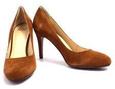 Noe Womens High Heel PUMPS Court Shoes Suede Leather Brown UK 7 / EU 40
