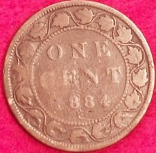 1884 Canadian Large Penny  ID #A5-47