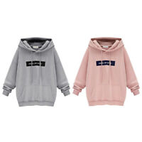 1pc Warm Hoodies Women Loose Autumn Streetwear Korean Cartoon Letters Sweater