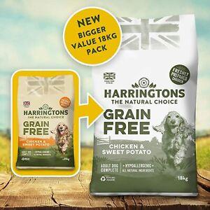 Harringtons Dry Dog Food Grain Free Hypoallergenic Chicken & Sweet Potato 18 kg