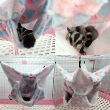 Pet Bird Hamster Ferret Rat Squirrel Hammock Hanging U Toy Bed Cage K House H3X5
