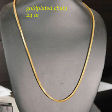 22k Fashion Jewellery 22k Gold Plated Necklace for Men or Women Chain 23 in  x15