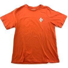 Men's Black Diamond Orange T shirt Organic Cotton Orange Size Large L