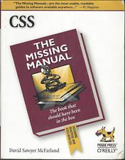CSS : The Missing Manual, McFarland, David Sawyer McFarland O'REILLY PAPERBACK