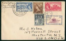 Mayfairstamps New Zealand 1953 Coronation Day Flight to London Cover wwr26981