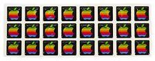 Rare Domed RETRO Apple MacBook Pro Air iPad iPhone Rainbow Sticker Decal Logo