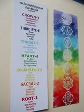 Chakra Bookmark, heavy paperboard & Free Shipping -12 Days Of Christmas Sale
