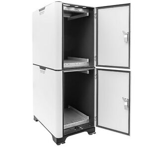 White Server Cabinet for PylonTech US2000C 2.4kWh Lithium Battery up to 6 Units