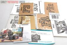 Nikon Camera and Accessory Instruction Manuals. Graded: EXC+ [#8500]