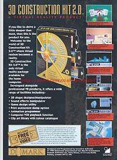 3D Construction Kit 2.0 Domark 1993 Magazine Advert #7277