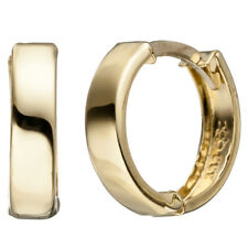 Damen Creolen rund 333 Gold Gelbgold Ohrringe Goldcreolen Goldohrringe