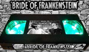 Bride of Frankenstein- Retro VHS Lamp +Remote Control - Classic Monster Horror