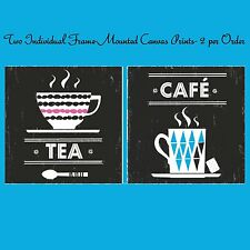 IKEA FINNERYD Set-2 Art Canvas NEW Print Cafe'Tea Coffee Mug Black Print Bistro