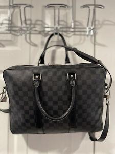 Louis Vuitton Porte Documents Voyage PM Damier Graphite Canvas Briefcase $1750