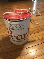 Vintage Pearl Beer Round Ice Chest Cooler