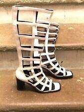Sandalo stivale estivo Nello Membro vintage pelle bianca ben tenuto numero 40.5