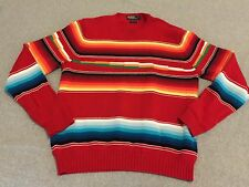 Polo Ralph Lauren Striped Aztec Navajo Sweater Red Blue Green White Men's XL