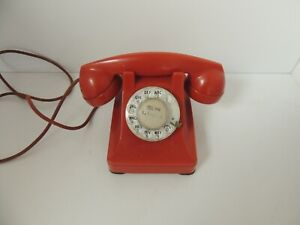 Rare Vintage Original Western Electric 302 Red Dial Phone